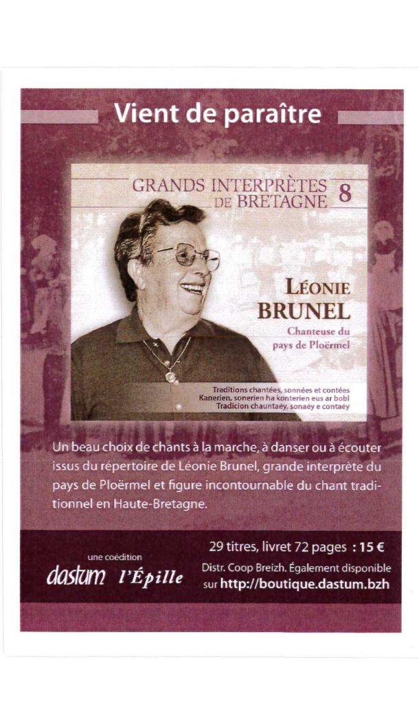 Vente CD Léonie BRUNEL